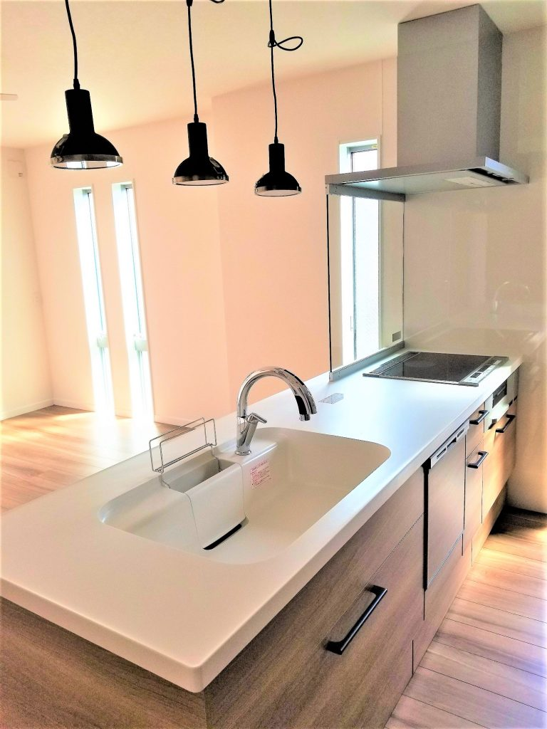 食器洗浄器付きシステムキッチン。