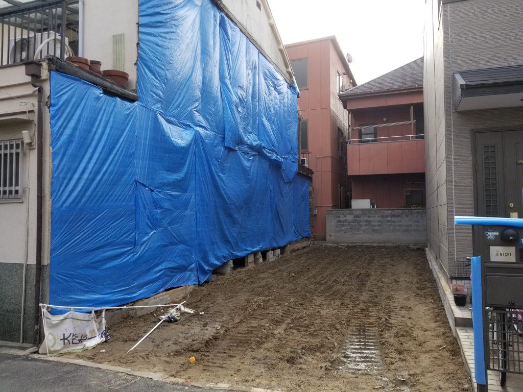 連棟住宅 解体完了