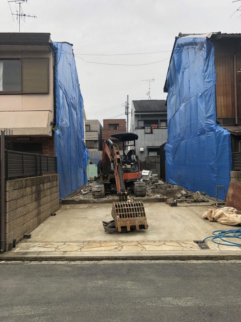 連棟住宅 解体中