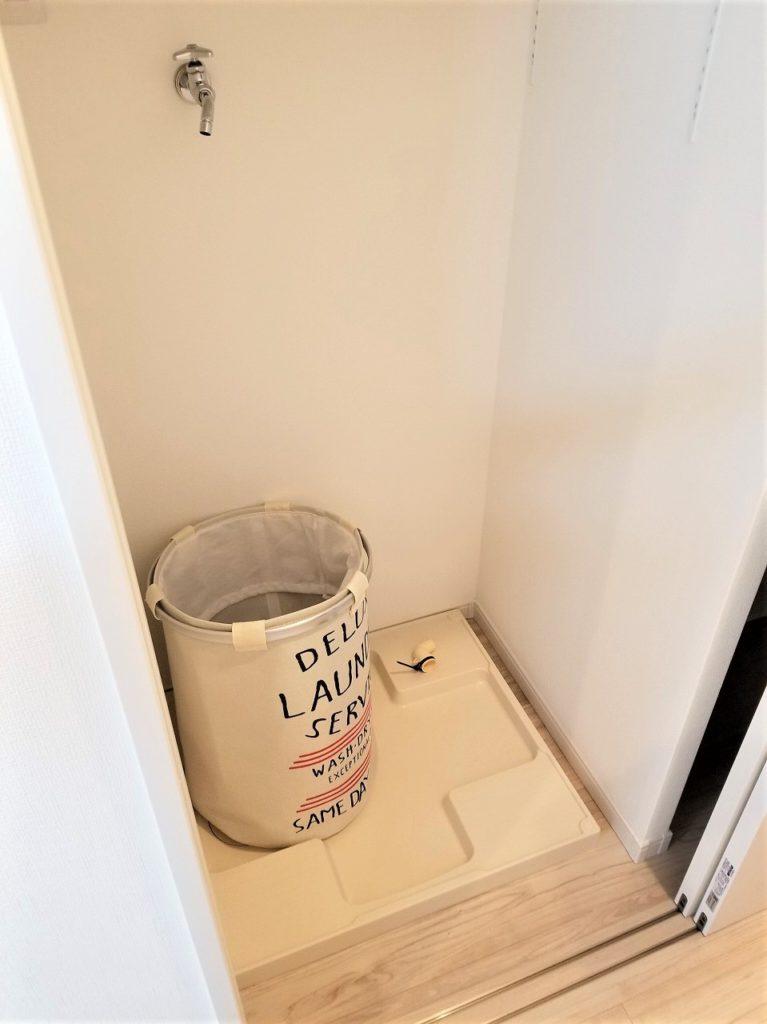 パントリーの横には洗濯パンがあり、主婦動線が考えられています。